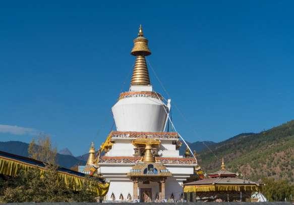 The National Memorial Chorten located in Thimphu