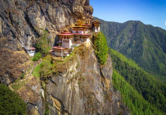 The trek to the famous Tiger's Nest Monastery in  Paro is absolutely worth it
