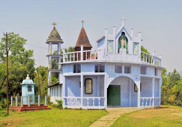 Make your family trip blissful with a visit to a church in Cherrapunjee