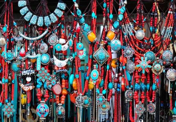 Buy Tibetan handicrafts at the local markets