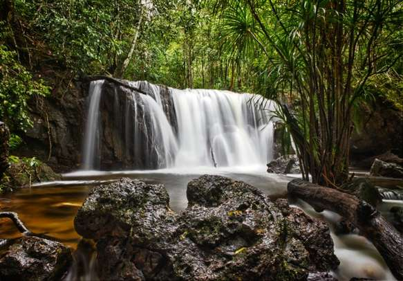 A view of Suoi Tranh waterfall in Phu Quoc