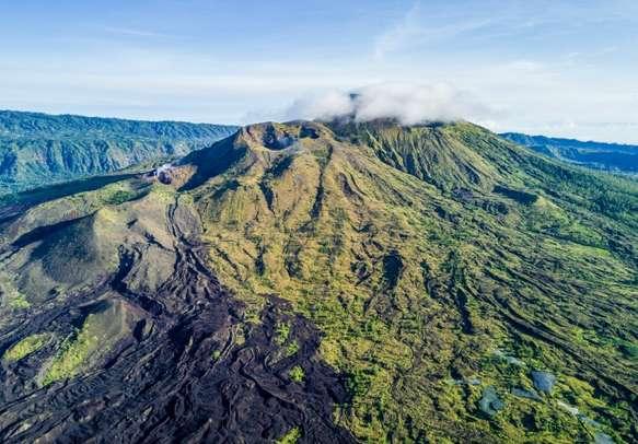 A view of Mount Batur Volcano in Bali
