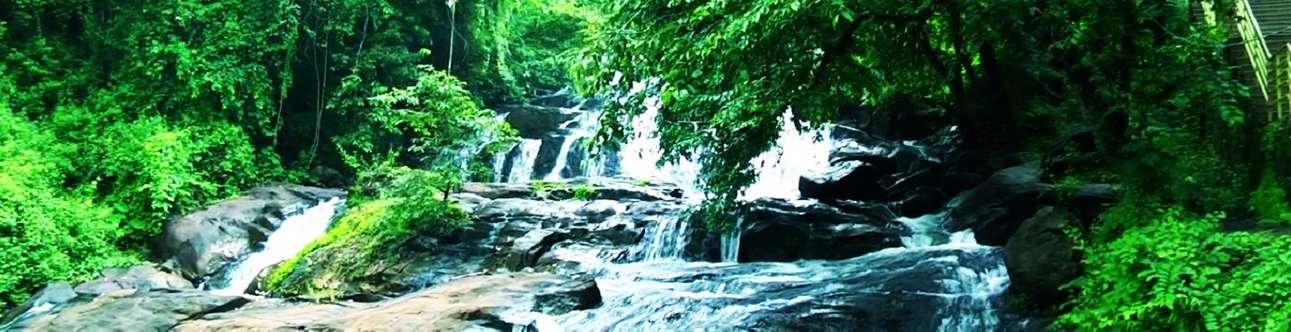 The beautiful Aruvikkuzhi waterfalls in Kumarakom