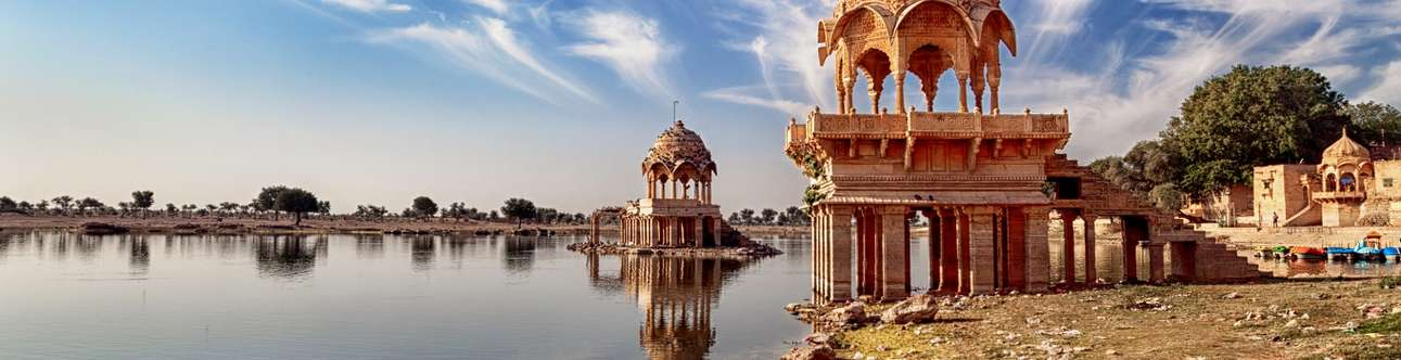 The most famous lake in Jaisalmer