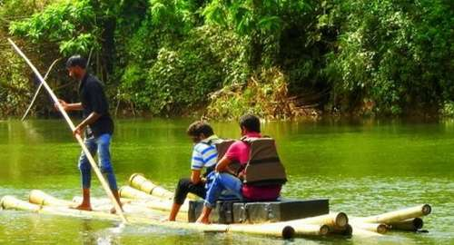 Thrilling adventure sport in Thekkady