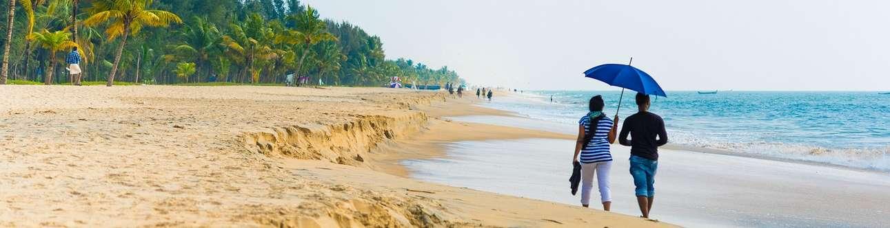 The beautiful Marari beach in Alleppey