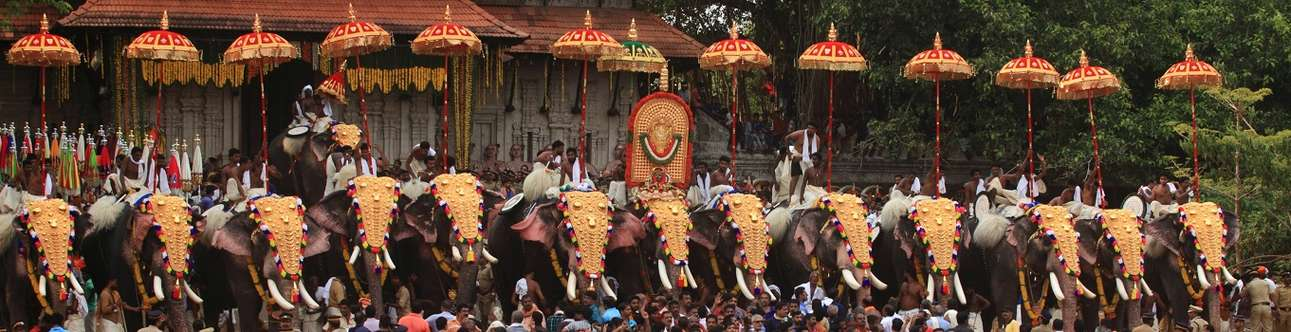 The famous temple festival in Alleppey