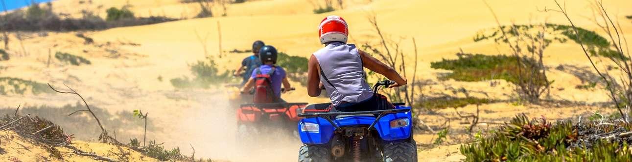 Thrilling adventure sport on Sam Sand Dunes In Jaisalmer