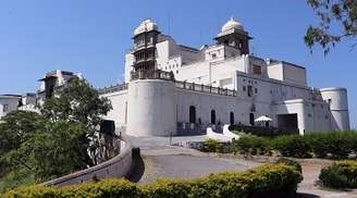 Explore the magical charm of the Monsoon Palace in Udaipur.