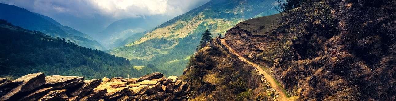 Beautiful hills of Shimla