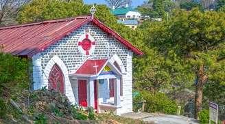 Seek blessings at Baptist Church in Kasauli