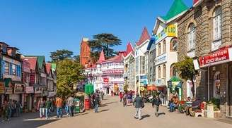 The popular shopping place for tourists in Shimla