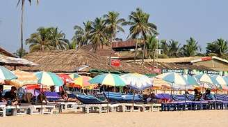 Baga Beach is great for seafood