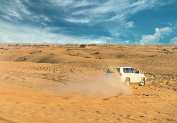 Dune bashing in the desert of Dubai is a thrilling experience