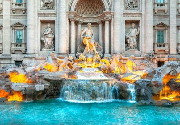 Beauty of Trevi fountain in Rome is unparalleled during sunrise