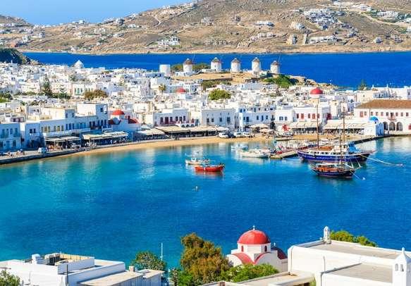 Enjoy a ferry ride to Mykonos
