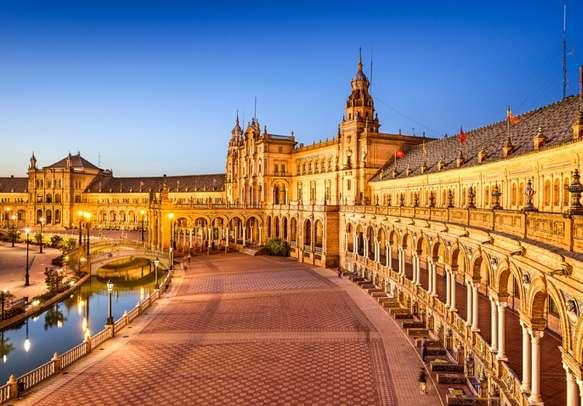 Spanish Square (Plaza de Espana) in Seville