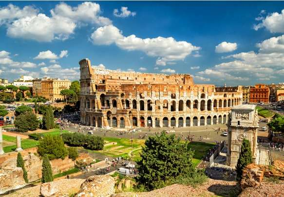 The panoramic view of the Colosseum in Rome will leave you speechless