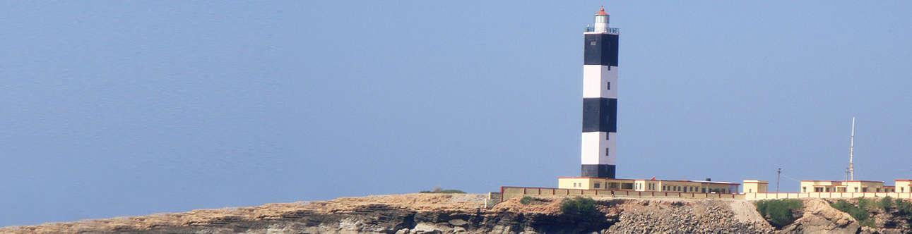 Panoramic view of Dwarka Beach