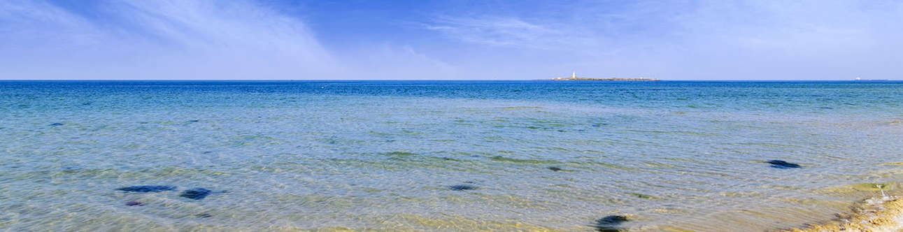 A pristine beach with a rich past