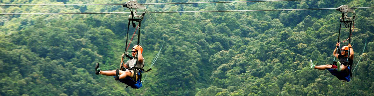 Enjoy zipping over river and ravines