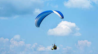 The recent craze for aero sports has certainly helped make paragliding a rage here