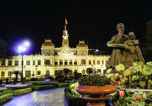 Take in the charm of Ho Chi Minh City Hall in Ho Chi Minh City, Vietnam
