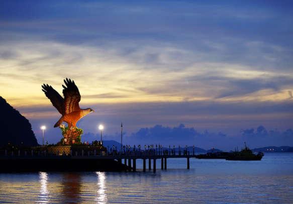 Marvel at the Eagle symbol in Langkawi