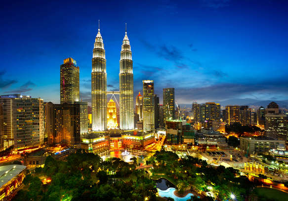 The view of Kuala Lumpur skyline at twilight will leave you spellbound