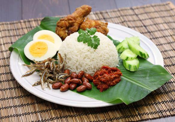 Savor coconut milk rice - a Malaysian cuisine
