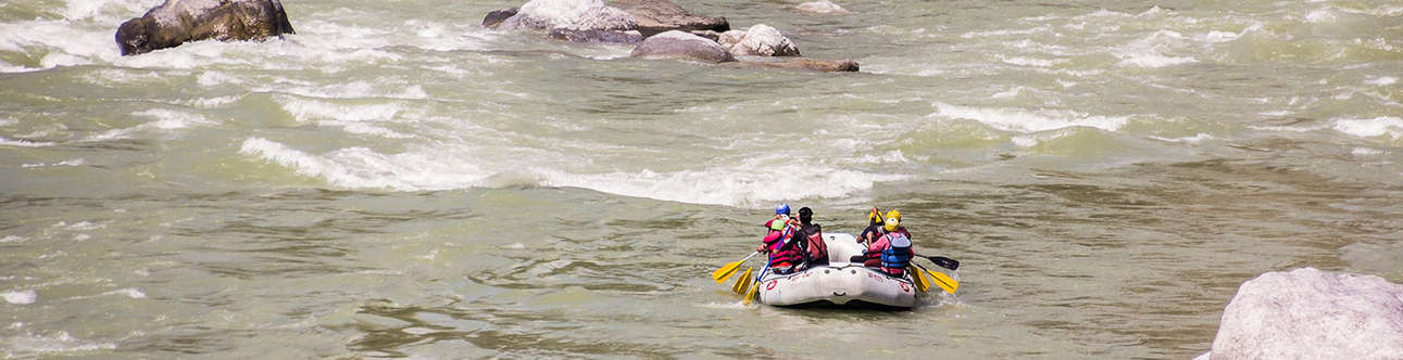 Get thrilled by White Water Rafting sport