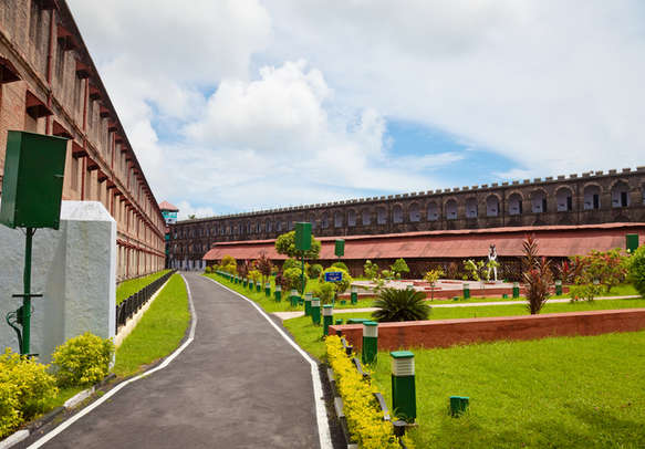Scenic view of epic cellular jail in Andaman