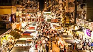 You can find everything at the street markets of Hong Kong