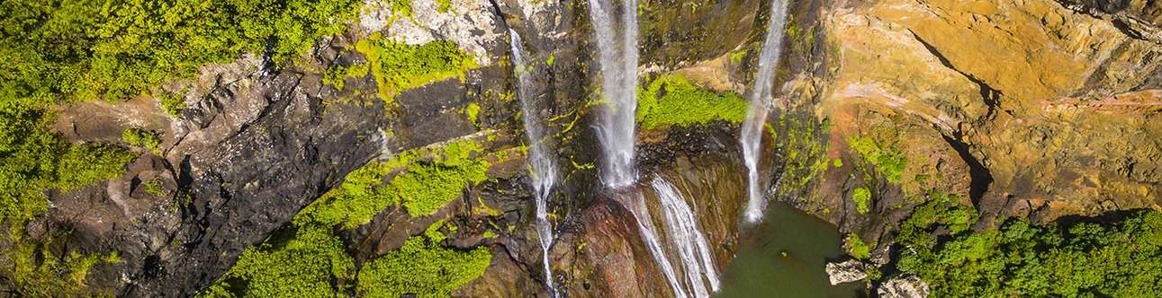 Enjoy a hike to the Tamarind waterfalls in Mauritius