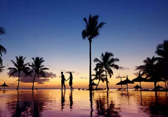 Take joy in walking on the sandy beaches of Mauritius with your better half
