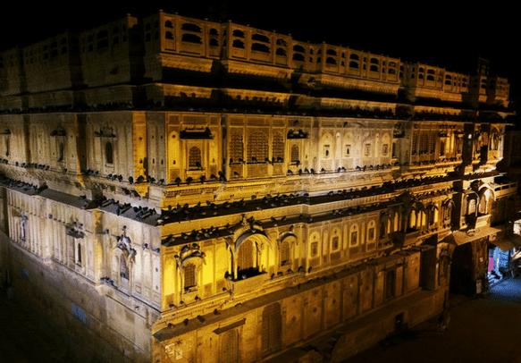 Patwon ki Haveli is a majestic edifice of Jaisalmer