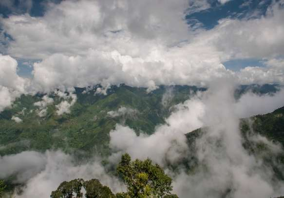 Mussoorie covered with Clouds