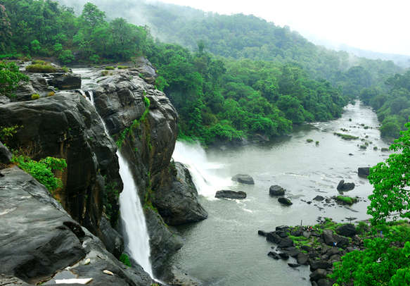 Vazhachal waterfall in Athirapally
