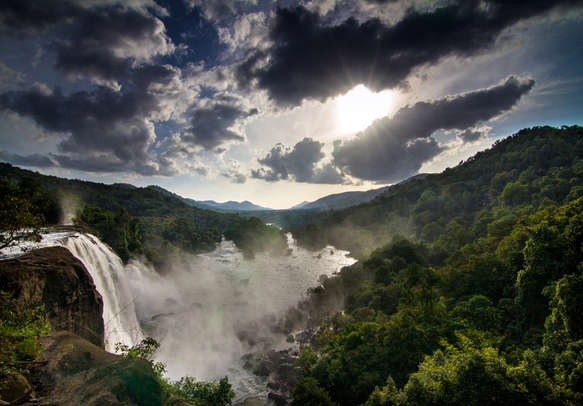 Marvel at the majesty of Athirapally Waterfalls