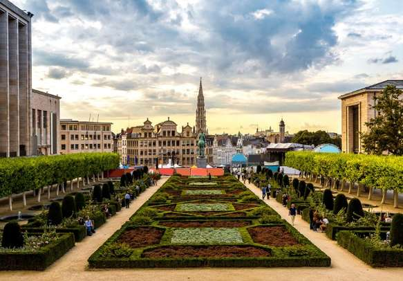 Enjoy the beauty of Brussels cityscape