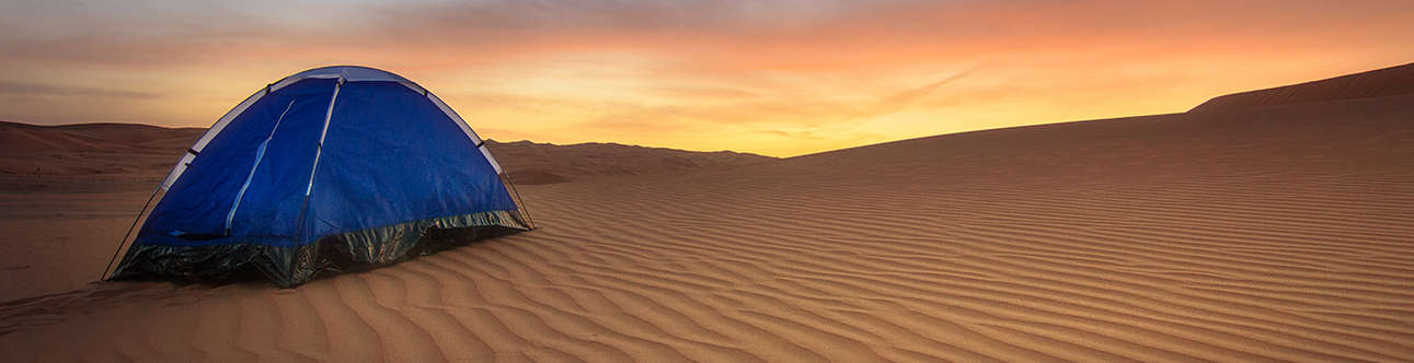 Night Camping in Arabian Desert
