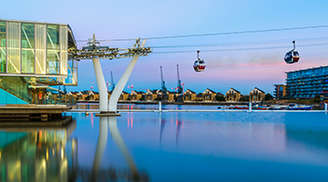 Cable car ride in London