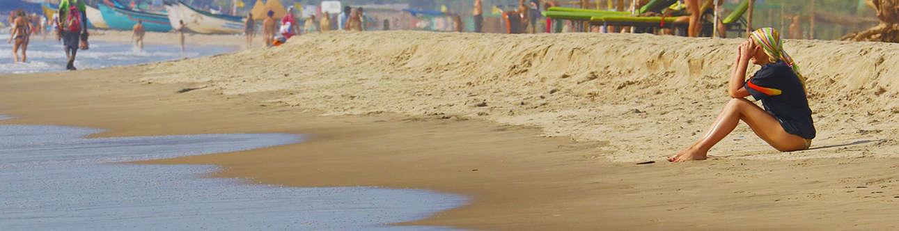 Enjoy the white-sand beach of Mandrem