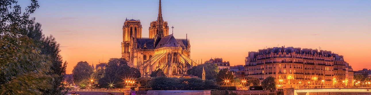 A medieval era Catholic cathedral in Paris