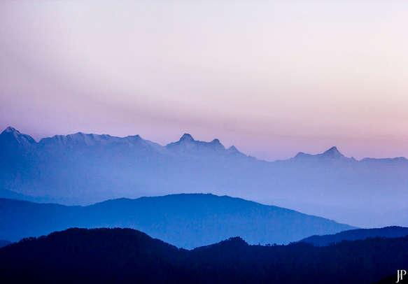 Beautiful snow view point in Uttarakhand