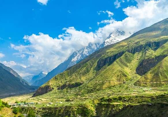 Breathtaking Badrinath mountains