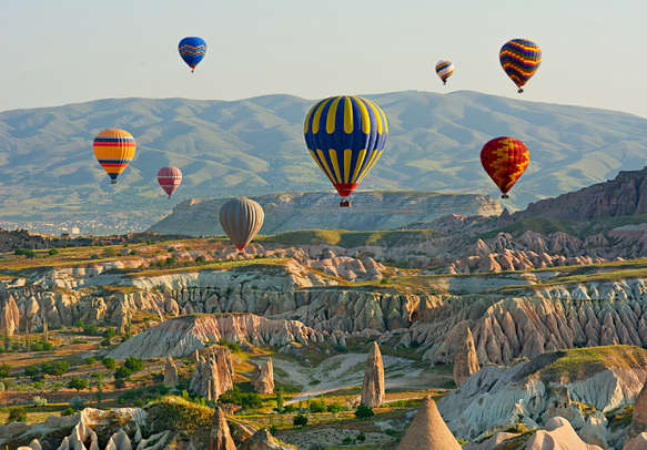 Don't miss out on a hot air balloon ride in Cappadocia