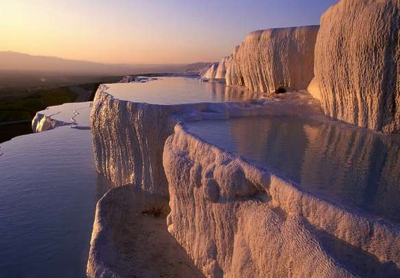 The mineral-rich thermal waters of Pamukkale
