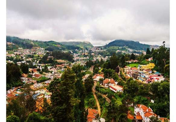 The panoramic view of Ooty
