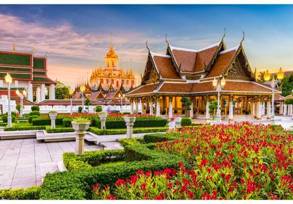 Seek blessings at the many Buddhist temples in Bangkok